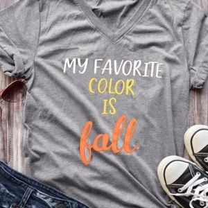 Fall Grey graphic t-shirt